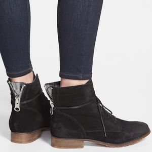 Steve Madden Rawlings black suede ankle boots 8.5